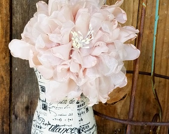 Bridal pin Corsage, Blush Corsage,  Fabric Corsage,Bridal Sash, Dress flower, Bridal Accessory, Flower pin, wedding dress flower pin