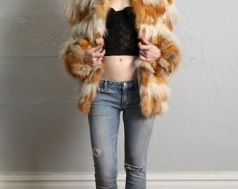 Lambs Wool & Fox Fur Coat