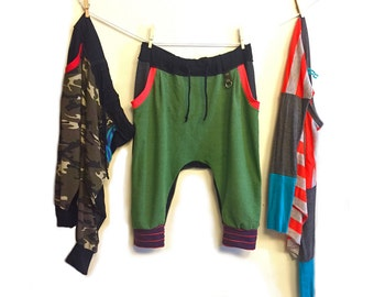 Heather Forest Green Drop Crotch Pants (Reserved for K)