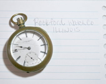 Reserved for Mike ////// Rare 1876 Rockford Pocket Watch # 15492 - Dueber Silverine Case