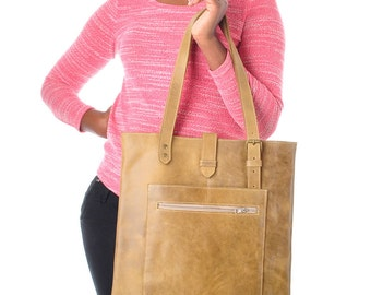 Leather tote bag Tote bag women's leather bag leather shopper  bag tote bags with pockets  tote bags under 100 USD