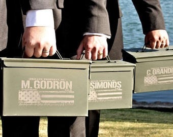 Personalized Mens Hunting Gifts Groomsmen Gift Ammo Can Patriotic Gifts American Eagle Father of the Bride Gift for Best Man Groom Gift