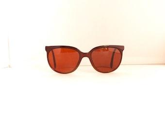 80's 90's Bolle Cat Eye Sunglasses Vintage Women's 1980's 1990s Brown Frames Made in France #M159 DIVINE (EB)