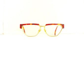 Missoni Designer Eyeglasses Frames // Women's 1990's //Tortoiseshell with Gold Frames // Made in Italy// #M170 DIVINE