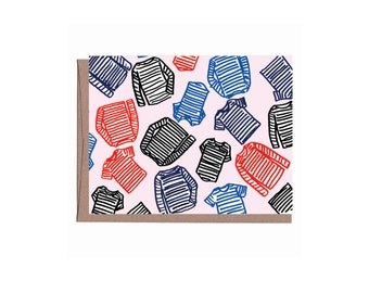 Striped Shirts Card 6pack