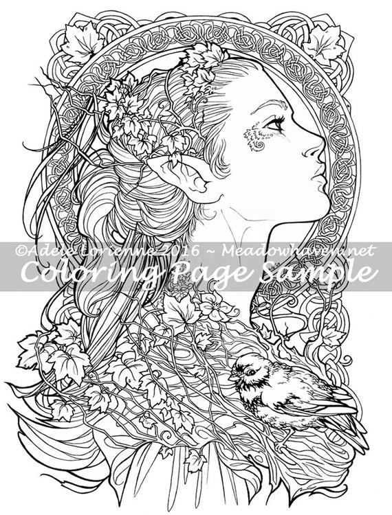 printable coloring fantacy pages - photo#13