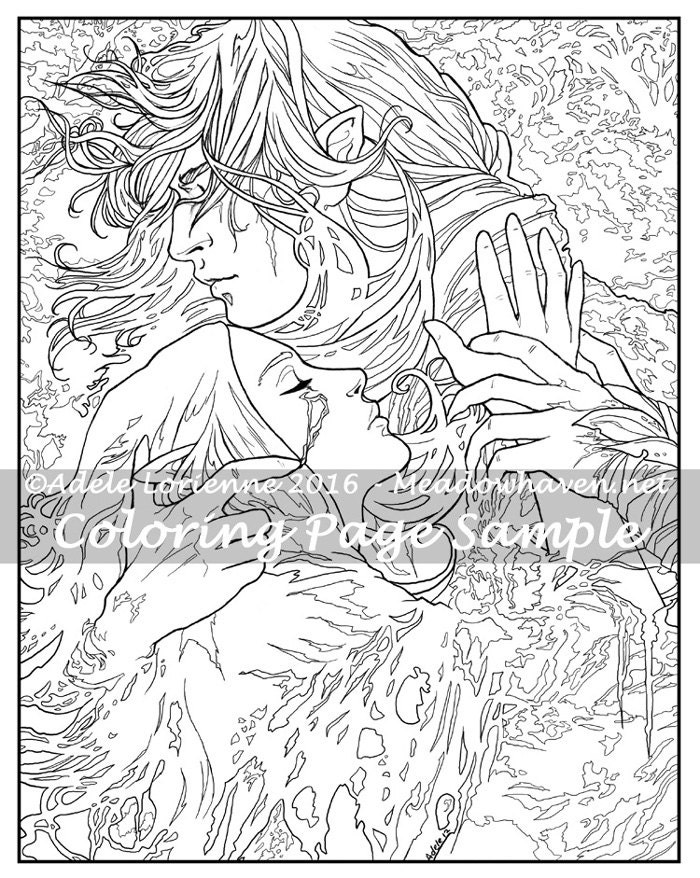 Fantasy art coloring pages ~ Art of Meadowhaven Fantasy Coloring Page Download:
