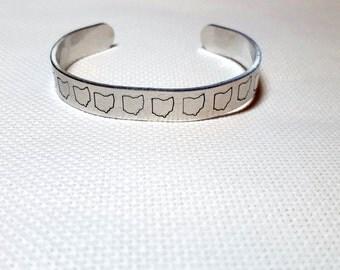 Ohio Cuff Bracelet | Ohio Jewelry | Ohio Gift