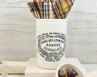 Vintage Dundee Marmalade Crock