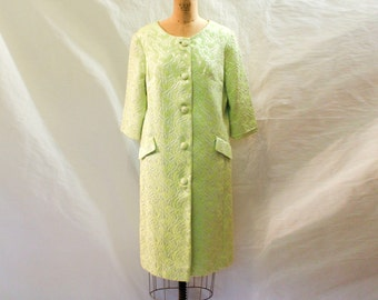 Vintage Quilted Chartreuse Coat