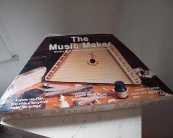 Vintage Musical Instrument  / The Music Maker  /  Harp style Instrument  /  Child Size