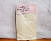 "RESERVED --- 60s Textured Panty Hose - Mojud Wishing Bone Beige - Point d'Esprit - Unworn in Package - Average 5'4"" to 5'7"""
