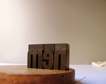 Vintage Letterpress men Printer Block Man Cave Mens Room Sign Boys Club Fathers Sons Bar Sign Male Sexy Men Sports Decor Wood Type Printing