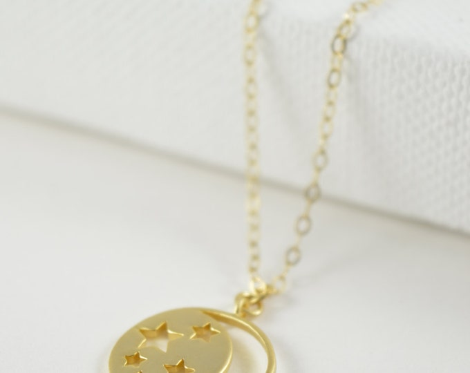 Moon Charm Necklace, Crescent Moon Necklace, Gold, Silver, Rose Gold Moon, Necklace, Jewelry, Simple, Necklace, Modern, Cute Moon Necklace
