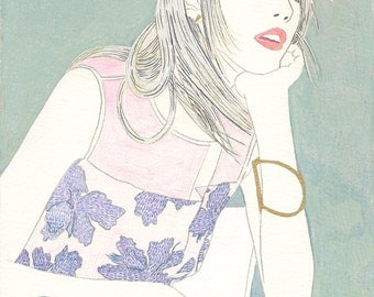 Rebecca Taylor // Fine Art Print of Original Fashion Drawing