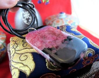 Purple Druzy Agate Stone Pendant ~ Inner Grounding & Focus ~