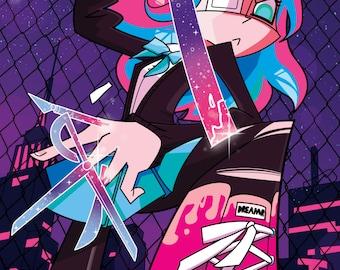 Anarchy Dreamers Issue 1 Comic Book Full Color Manga Cartoon Zine