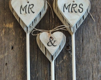 MR. MRS. Cake Topper, Rustic Wedding Cake Topper, Wood Heart, Aspen Slice Cake Topper, Country Wedding, Cowboy Wedding, Rustic Chic Wedding