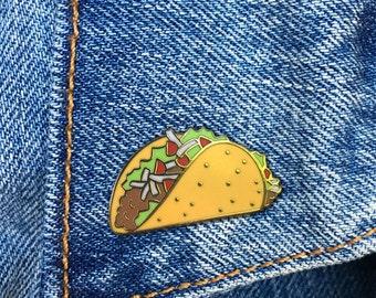 Taco Pin, Hard Enamel Pin, Lapel Pin, Gift, Jewelry, Art (PIN64)