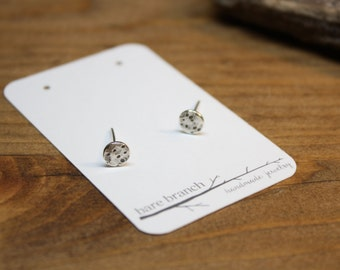 Full Moon Studs - Moon Stud Earrings - Moon Phase Jewelry - Recycled Silver Earrings  - Argentium Silver Jewelry - Hypoallergenic Studs