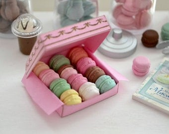 1:6 Scale Sweet Petite Play Scale Miniature Laduree Macarons