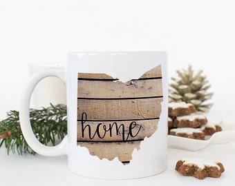 Farewell Gift, Ohio Coffee Mug, State Mugs, Moving Away gift, Thinking of you gift, Miss you Gift, Long Distance Mug, State to State Mug