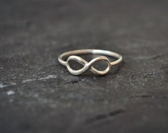 Infinity ring, Sterling Silver Ring, Promise Ring, Couples Ring, Friendship Ring, Wedding ring, Gifts for Her, Mother's Gift, Anniversary