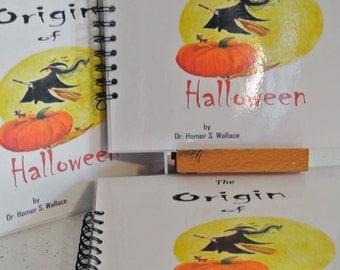The Origin Of Halloween Hand made book