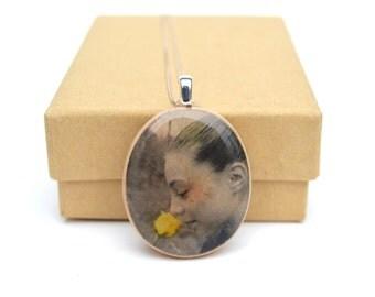 Photo gift mom Custom portrait necklace Personalized photo gift mom photo custom wife photo gift photo necklace personalized necklace.