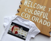 Colorado Baby, Mountain Baby, Colorado Flag Shirt, State Love Mixed Print Baby Colorado Bodysuit, I Love Colorado Shirt