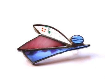 stained glass brooche