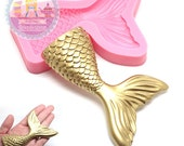 Large Mermaid Fish Tail Mold 68mm Push Mold Flexible Mold 485L Gumpaste Foundant Chocolate Candy Decorated Cookie Cake BEST QUALITY