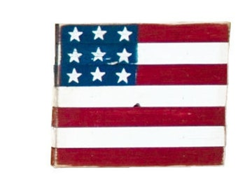 Handcrafted and Painted Reclaimed Wood American Flag