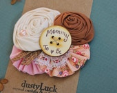 Rustic Mommy to Be Pin // Rustic Girl Baby Shower // Custom Made Mommy to be, Bride to be Pin