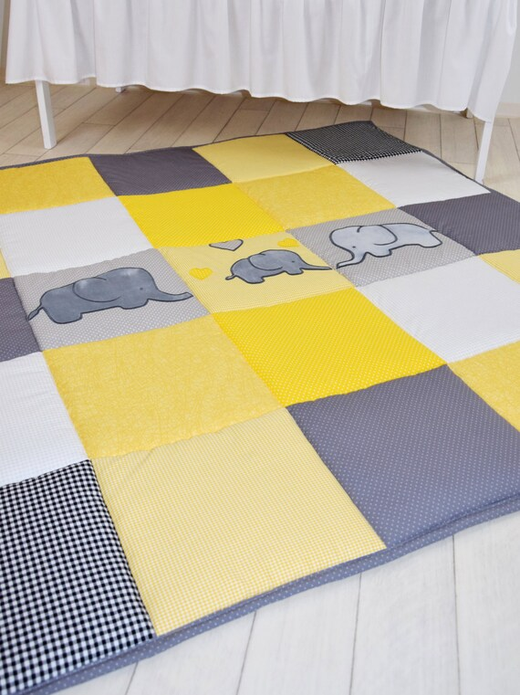 playmat play mat, floor gym crawl mat, baby mat thick large and soft baptism gift for boys and girls, handmade quality