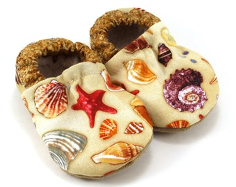 seashell baby shoes seashell slippers soft sole shoe beach baby beach clothing rubber sole shoes seashell booties nautical baby shoes