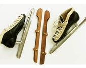 Vintage Saber Leather and Steel Speed Racer Ice Skates / Womens 8, Mens 10