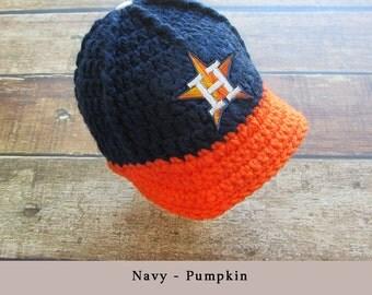 Baby Boy Hat Newborn Hat Infant Hat Newborn Houston Astros football hat - Baby Boy Coming Home Outfit, handmade baby newborn
