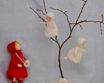 Seasonal Table Waldorf inspired dolls :The  snow children. Made to order
