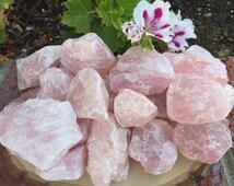 Large Raw Rose Quartz Crystals, Raw Crystal Quartz Chunks, Healing Crystals, Meditation, Crystal Grid, Gemstone Home Decor, Boho Decor