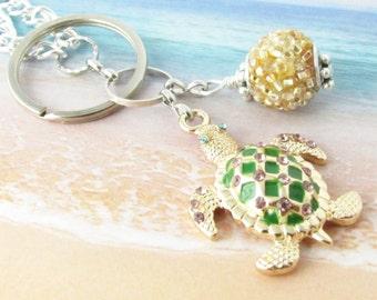 Eyeglass Lanyard, Eyeglass Necklace, Beaded Lanyard, Eyeglass Leash, ID Lanyard, Turtle Lanyard, Gold Turtle Lanyard, Mother's Day Gift