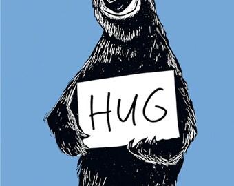 Bear HUG print