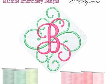 Fancy Script Ver 31 Monograms Machine Embroidery Designs Monogram Fonts BX Files