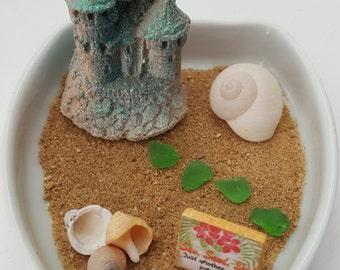 beach office decor. desktop fairy beach diy kit office decor miniature b