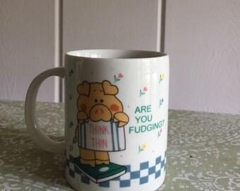 vintage think thin coffee or tea mug