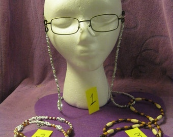 EYEGLASS HOLDERS Made By Hand in Various Materials and Colors - FREE Shipping