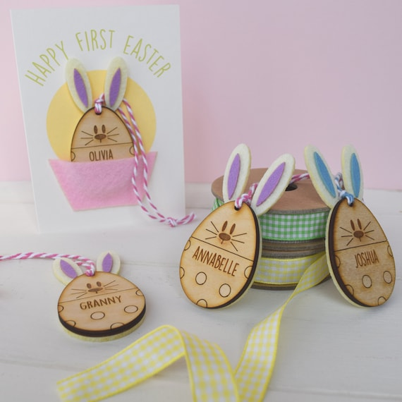 Baby's First Easter Card and Keepsake Ornament - Personalied 1st easter card - Baby's first Easter