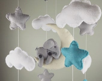 baby mobile-elephant baby mobile-cloud baby mobile -stars baby mobile-moon baby mobile