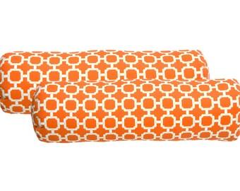 Large orange pillows Etsy