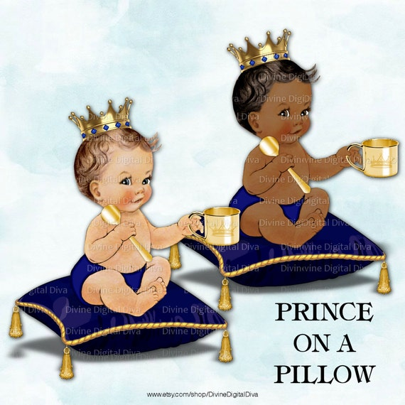 Little Prince On A Pillow Baby Boy Royal By DivineDigitalDiva